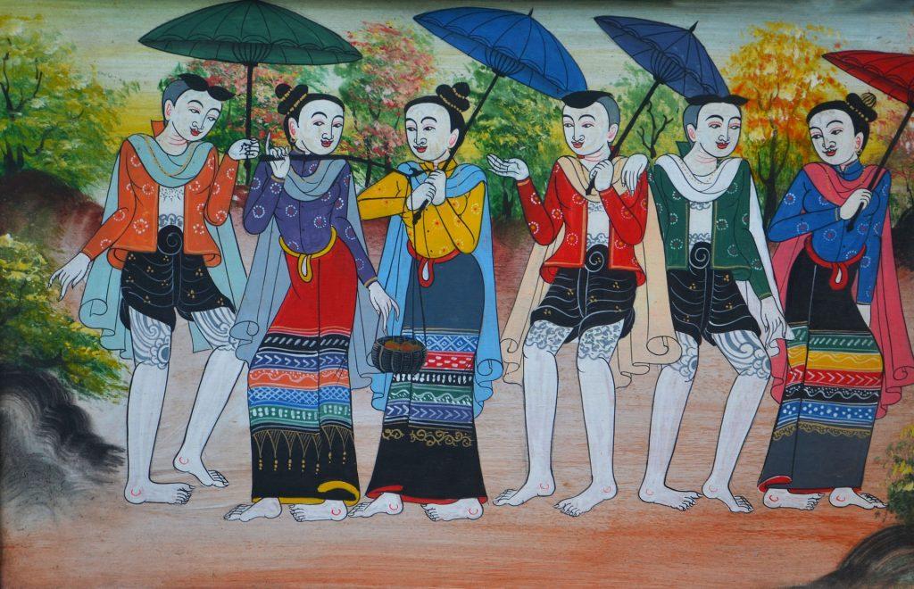 mural jóvenes asiáticos